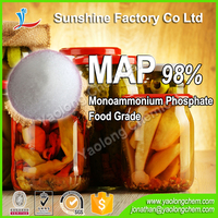 Food Grade 98% min Monoammonium Phosphate MAP 7722-76-1 for Food Industry