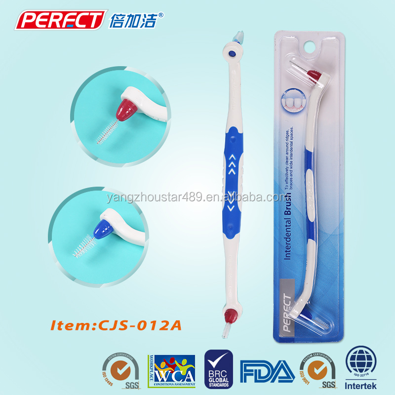 Interdental bamboo rubber replaceable interdental brushes