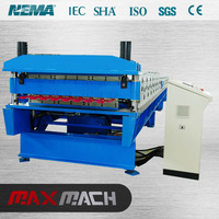 Quality products colorful stone coated metal roof tile machine