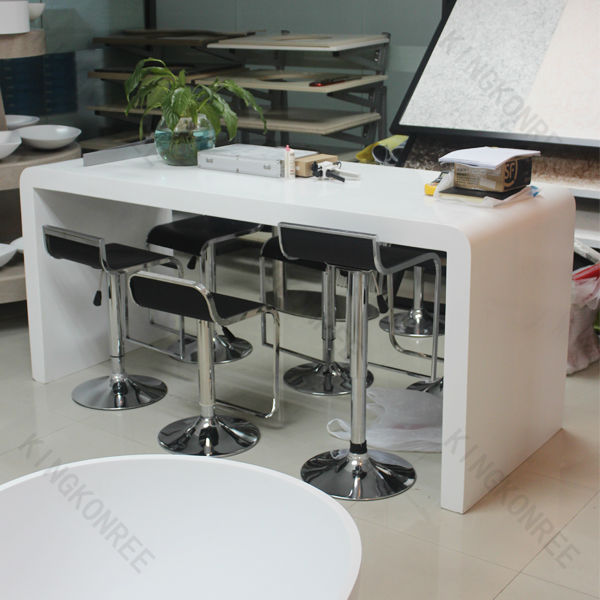 white stone high bar tables