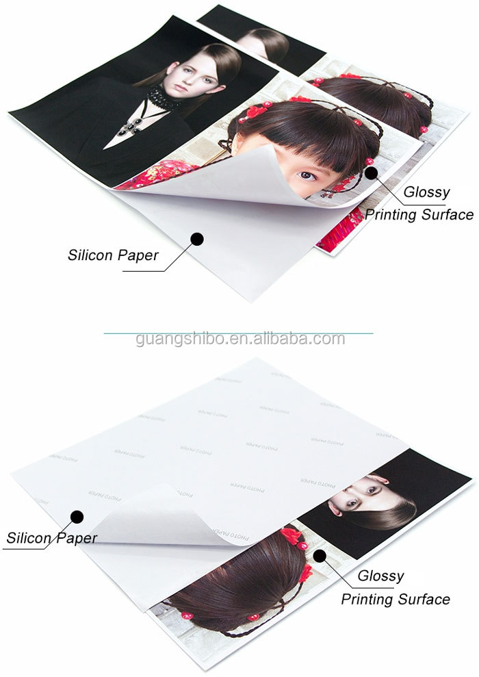 Premium 135g A4 Inkjet Glossy Self Adhesive Sticker Photo Paper(GSBSAPP18)
