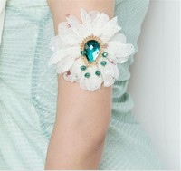 MYLOVE statement flower bracelet upper arm band chain armlet MLAT08