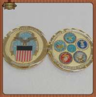 China Wholesale Metal Crafts Old Gold Challenge Coin with high quality