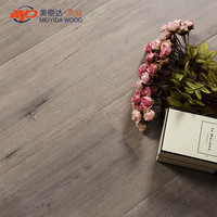 China manufacturer 12mm walnut color high gloss v-groove flooring laminated