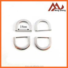 high quality small fashion silver D ring buckle