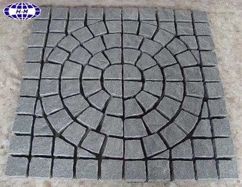 China dark grey G654 granite driveway pavers