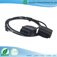 Best selling OBD Male Female 2 in 1 to Open End Diagnostic Cable