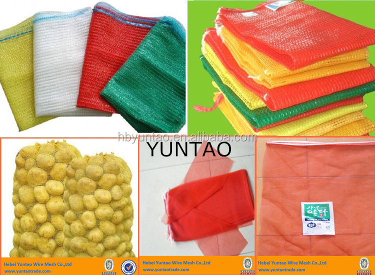 plastic onion mesh bag, vegetable mesh bag,fruit mesh bag