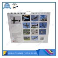 2016 Colorful printing calendar paper wall print large size calendar