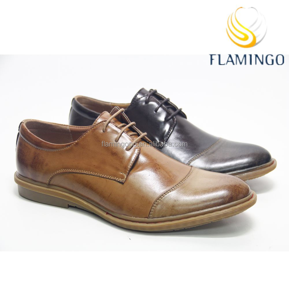 FLAMINGO 2016 LATEST ODM OEM free samples cheap men leather dress shoes