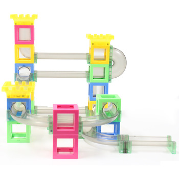 2019 New product marble track race marble run children custom plastic magnetic educational kids <strong>toys</strong>