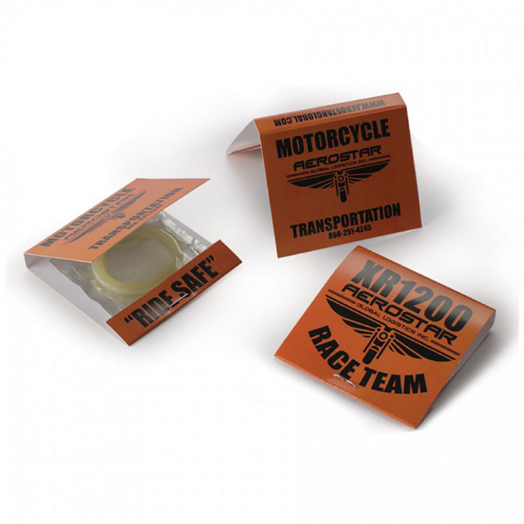 Chocolate Flavour Extra Dotted Condom with OEM condom