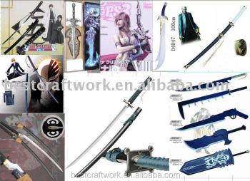 Popular Bleach Cosplay Anime Sword With Wood&Metal Material