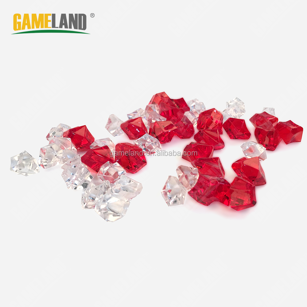 Custom Board Game Pieces Clear Plastic Gems Plastic Diamonds Clarity Game Tokens