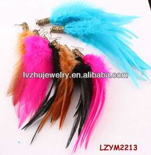 Dangle Rooster feather earrings LZYM2213