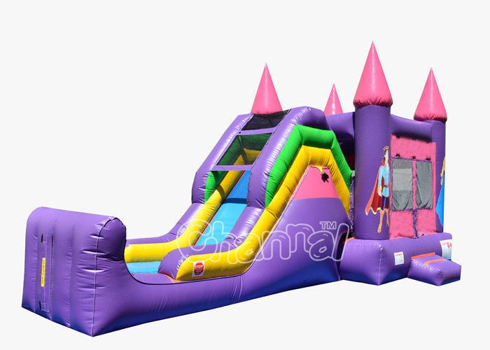 commercial inflatable combo bounce house water slide combo
