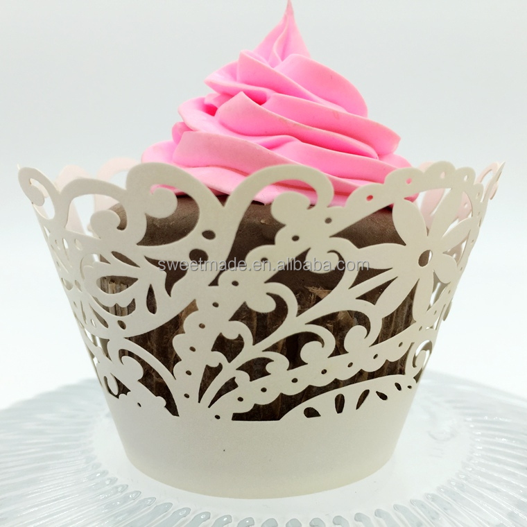 Festival Laser Cut Party Supplies Cupcake Wrapper Paper