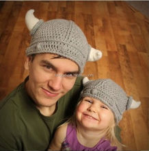 Manual wool knitting pirates horn hats/Parent-child cap/child hat