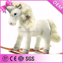 hot promotional items plush riding animal toys, large plush unicorn toy