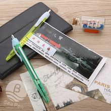 transparent good quality PP plastic roll paper pen with logo custom