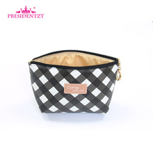 Personalized PU Leather Ladies Travel Trolley Makeup Bag