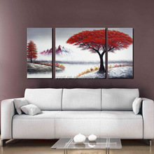 High Quality Canvas Landscape Oil Painting of Modern Trees