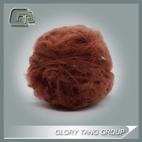red fiber, polyester spinning fiber dyed