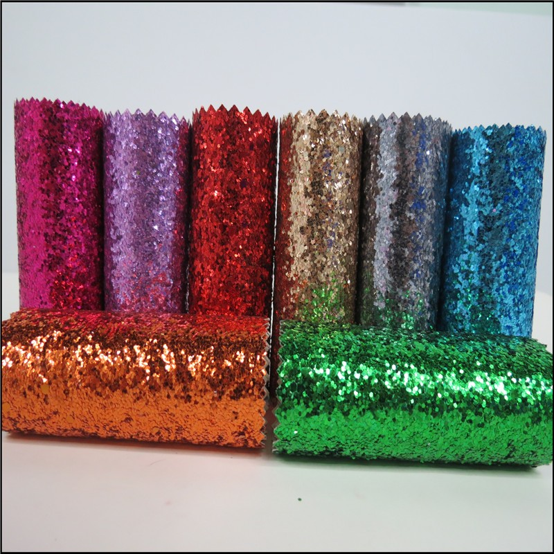 familiar with ODM fluorescence color glitter fabric craft