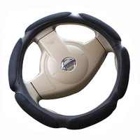 Xianjian Steering Wheel Cover - Black, Odorless, Cooler Hands In Summer, Warmer Hands In Winter