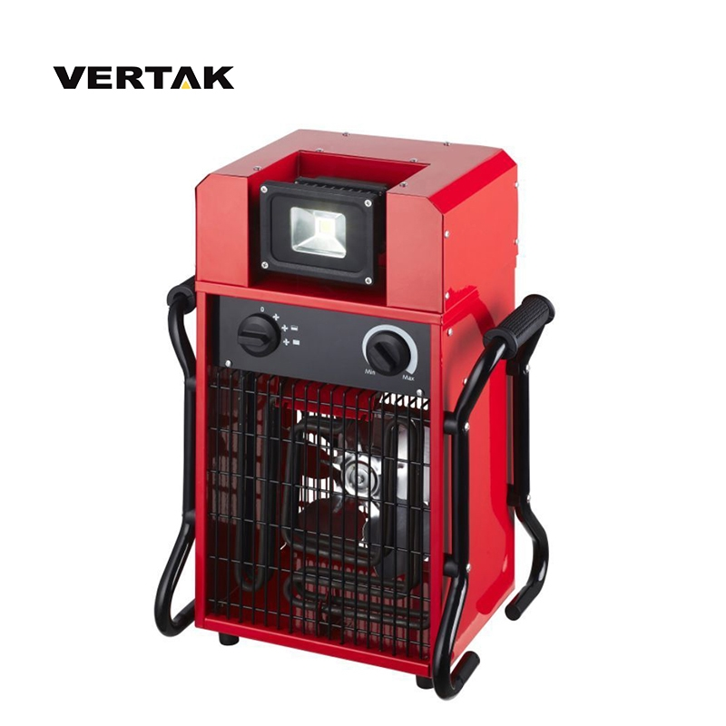 VERTAK 1650/3300W Adjustable Thermostat industrial electric fan <strong>heater</strong> with 10W LED light