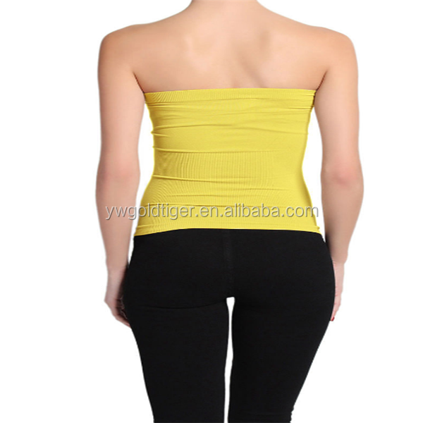 BASIC Layering Stretch PLAIN Strapless TUBE TOP Seamless Sleeveless Tee-12
