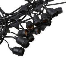 High quality CE ROHS 48ft E26 hanging sockets outdoor waterproof Christmas led string lights with edison bulb s14