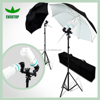 TS-ULK03 Photo Studio Reflective Umbrella Continuous Lighting Kits with Double Head