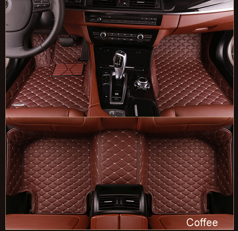 Custom Colorful Decorative 5D Leather Material Car Foot Mat with High Quality