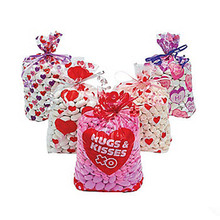 Custom Printed Valentine's Day Treat / Candy Cellophane bags Gift bags