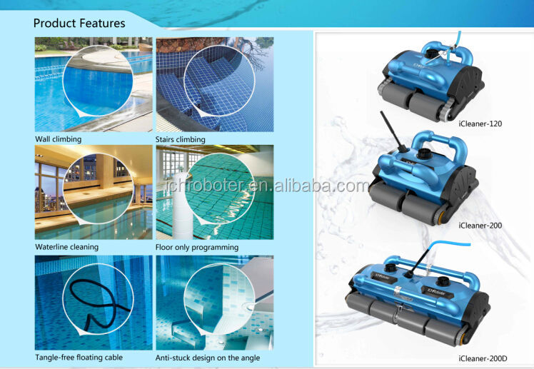Residential Automatic Swimming Pool Cleaner Robot