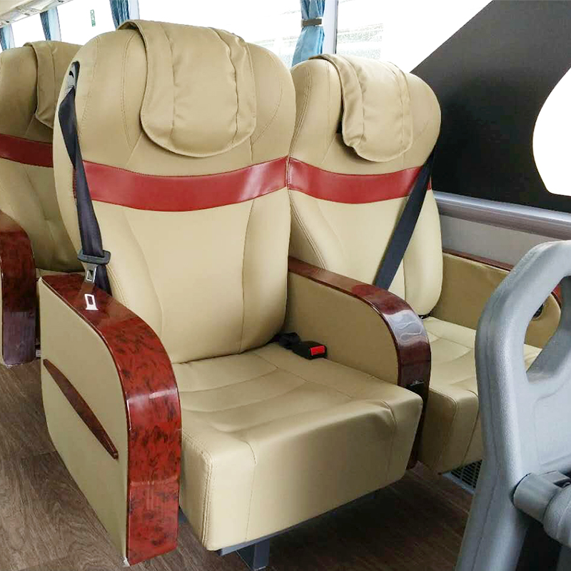 2017 Hot sell safe and secure Soft and comfortable environmental and health bus seats with FRPVC leather cover