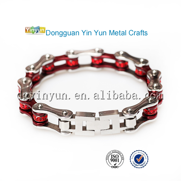 Charm fashion magnetic Stainless Steel Color Biker girls gold chain bracelets
