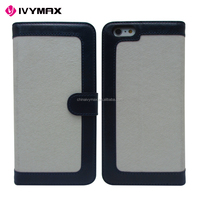 Personalized color flip cell phone case for iphone 6s phone unlocked leather case
