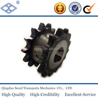"OEM pitch 38.1mm 120B double roller chain 15T 1 1/2"" harden treatment plain rear sprocket"