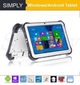 Simply T8/T10 Intel 2+32GB Window s/Android rugged handheld 1D/2D barcode scanner tablet