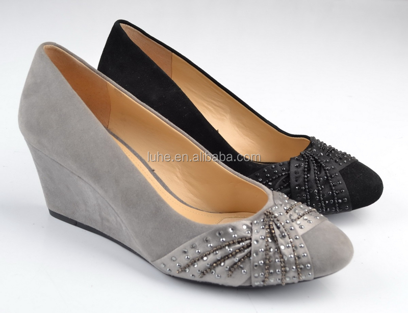 Well spring footwear elegant wedge heel office shoes women