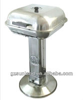 Square Stainless steel pedestal bbq grill stand