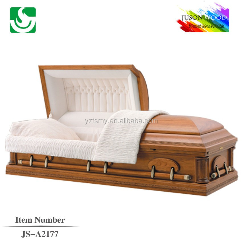 Qualified American style lacquered paulownia wooden log wood casket