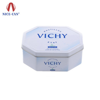 Special Octagonal Shaped Custom Logo Cosmetic Metal Tins