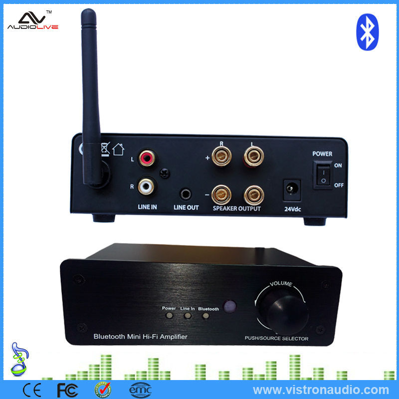 2 Channel Mini Bluetooth Function Home Stereo Audio Power Amplifier
