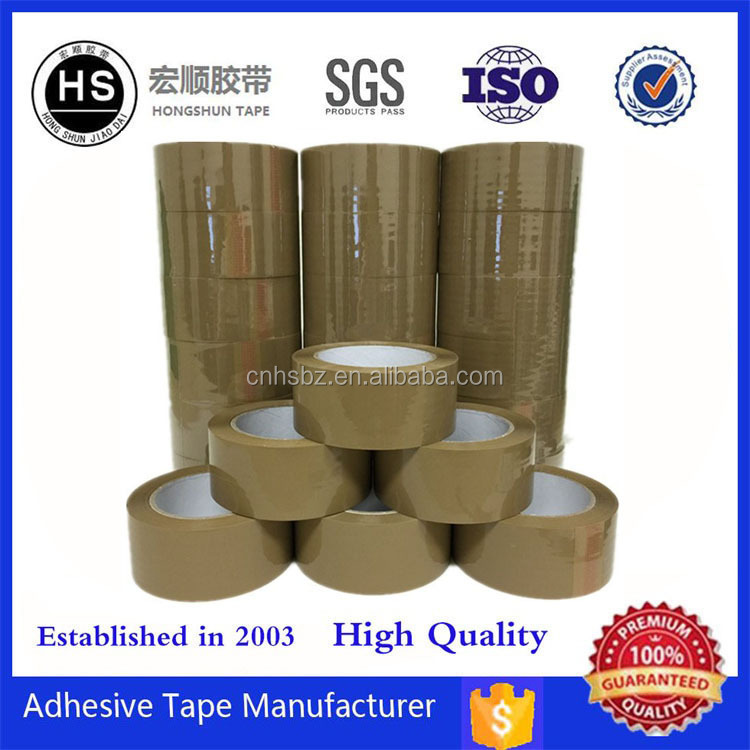 Top Sale Bopp Acrylic Adhesive Brown And Tan Packing Tape Paper Box Packaging Tape