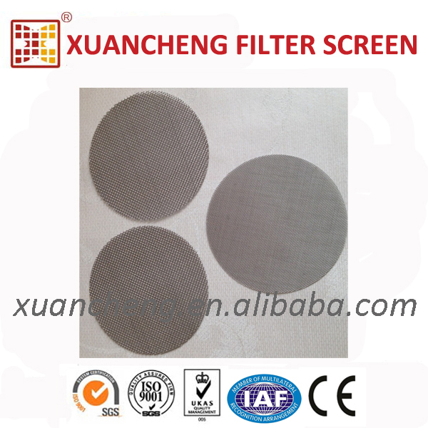 PET bottle flakes recycle line using filter screen wire mesh screen