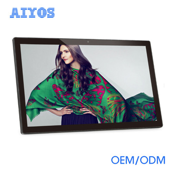 "18.5"" WIFI 3G android LCD advertising display player with camera"