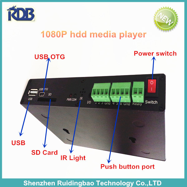 RDB 1080P hdd media player with internal storage and external Wifi DS009-111